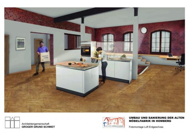 Wohnen in der Alten Möbelfabrik - Visualisierung 2