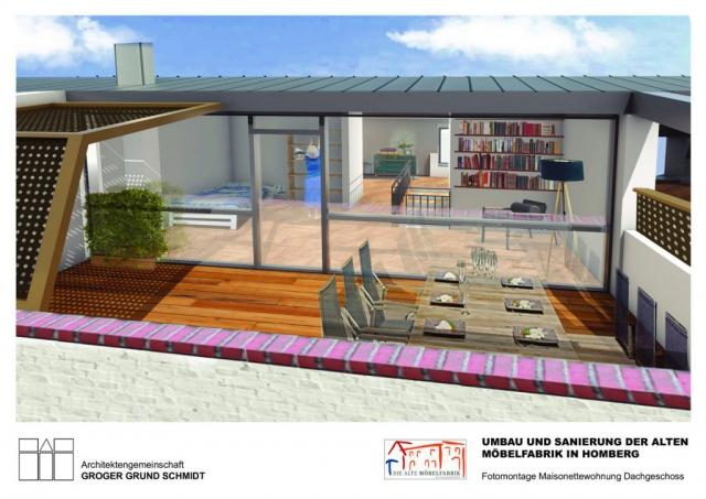 Wohnen in der Alten Möbelfabrik - Visualisierung 3