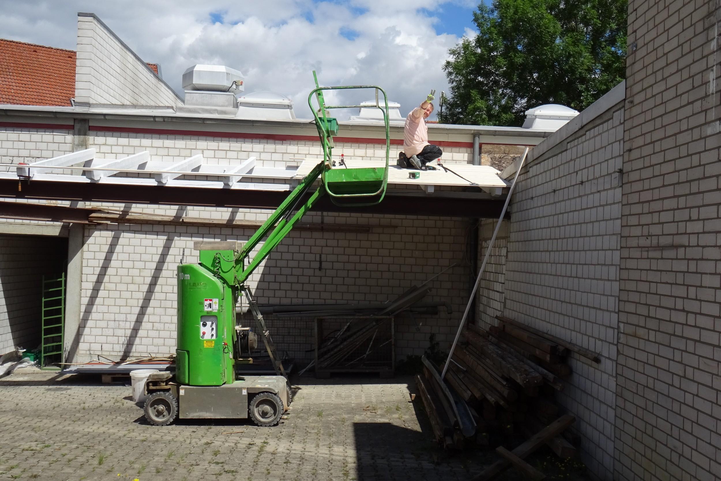 Aufräumen und Bauvorbereitung